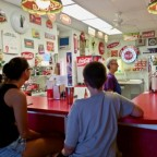 An old fashioned snack, Harmar, OH style: Coke and a fried bologna sandwich [classic article]