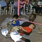 How low can YOU go? Free limbo party at Count Basie Square, Grand Bahama Island [classic article]
