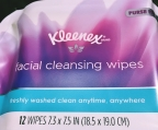 The answer to traveler's prayers: Kleenex facial cleansing wipes